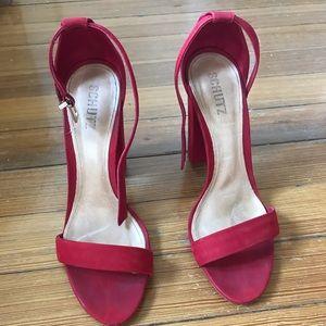 Red Enida Heels